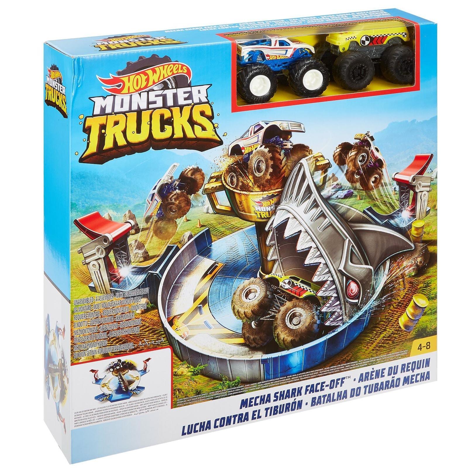 Pista Hot Wheels - Batalha do Tubarão Mecha - Monster Trucks - FYK14