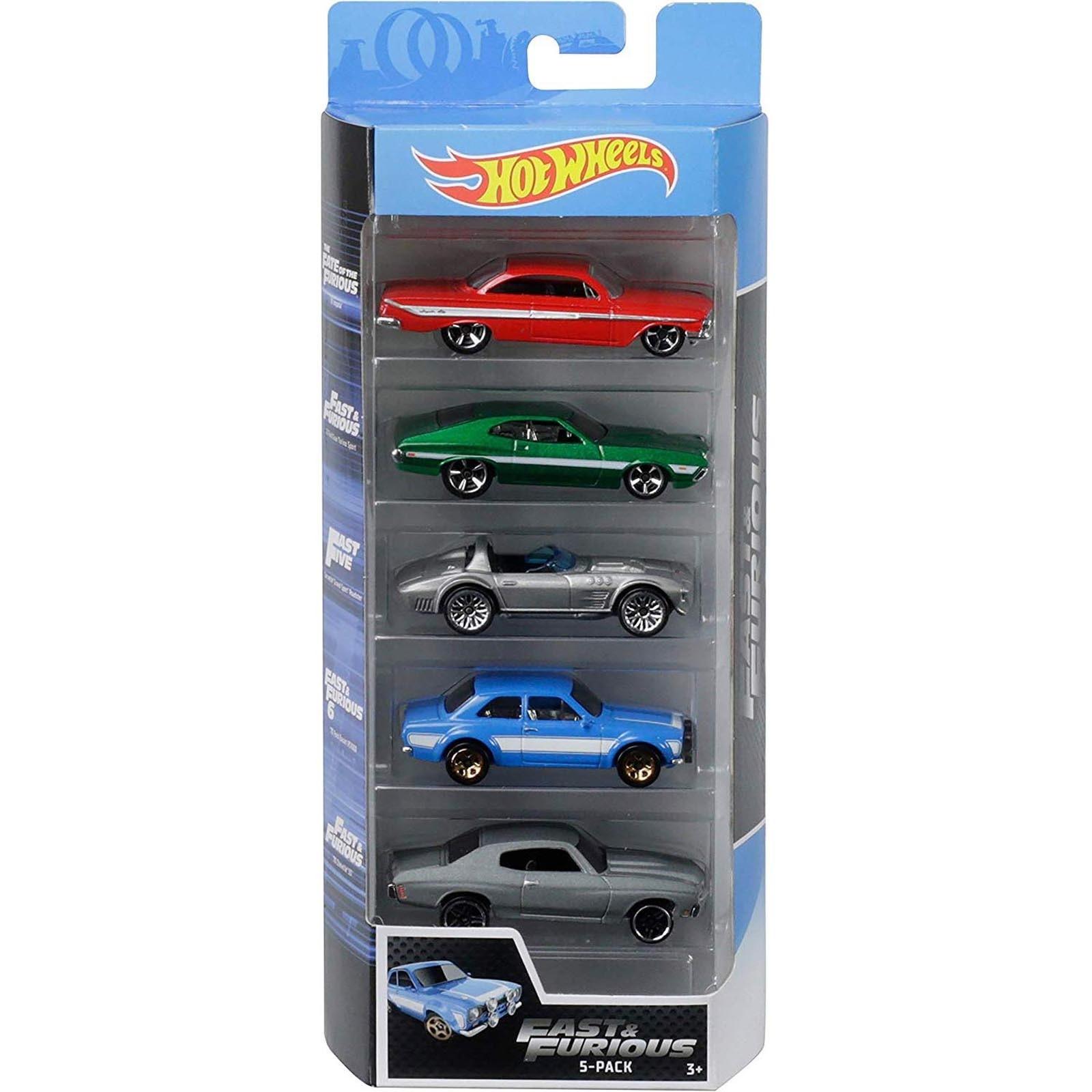 Pack de 5 Hot Wheels - Fast And Furious - Velozes e Furiosos - FYL16