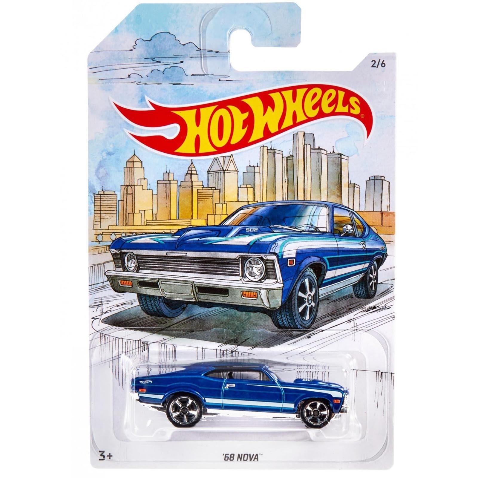 Hot Wheels - Set 6 Miniaturas - Detroit Muscle Cars - GDG44