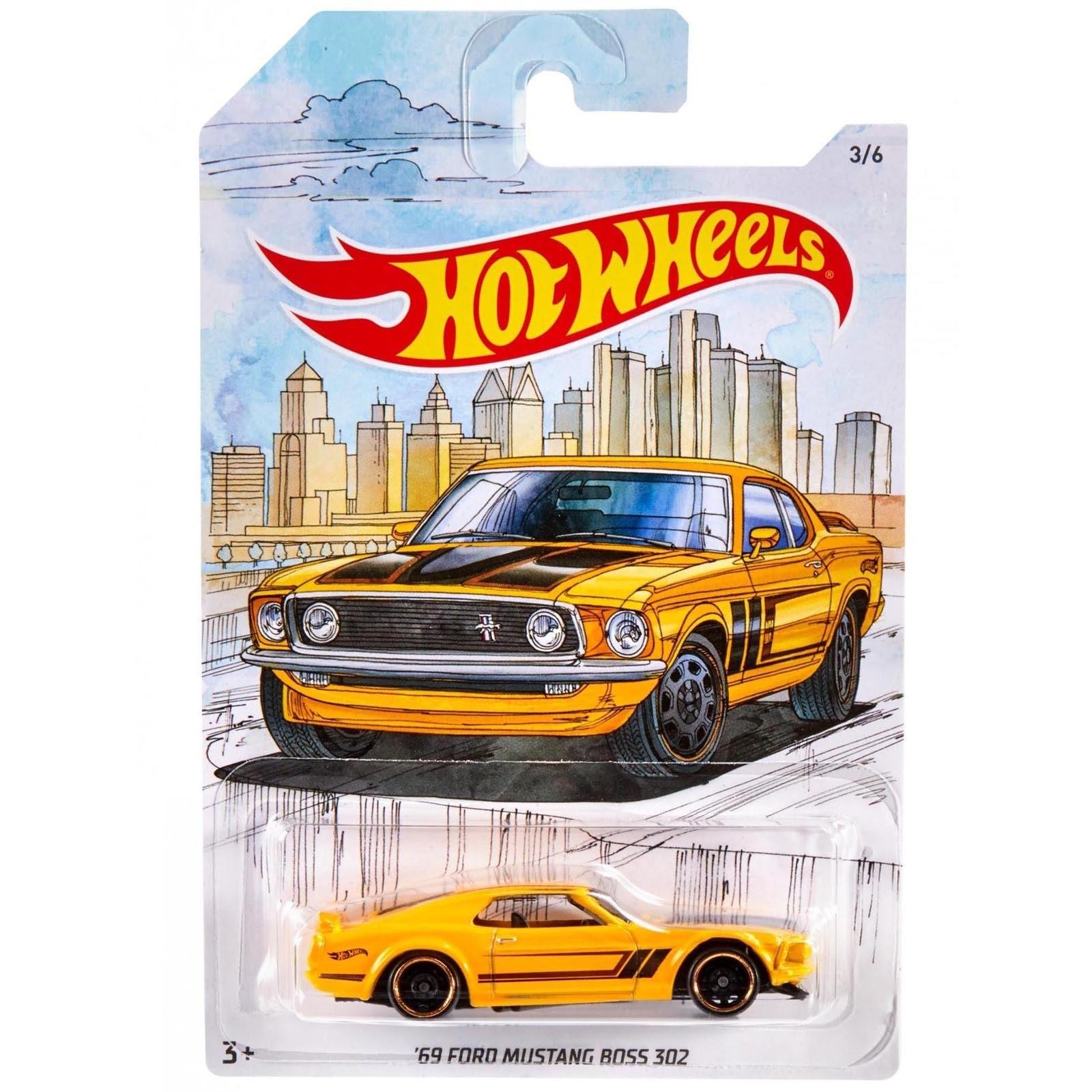Hot Wheels - '69 Ford Mustang Boss 302 - Detroit Muscle Cars - FYY10