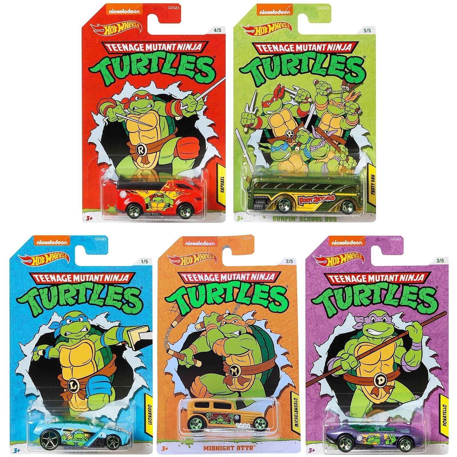 Hot Wheels - Set de 5 Miniaturas - Tartarugas NInja - GDG83