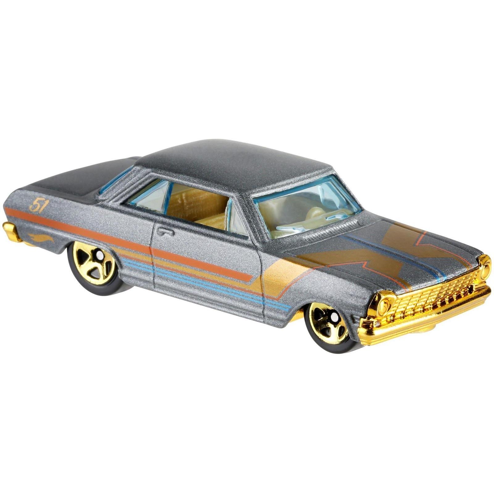 Hot Wheels - Set de 6 Miniaturas - Aniversário 51 Anos Satin & Chrome - GHH73