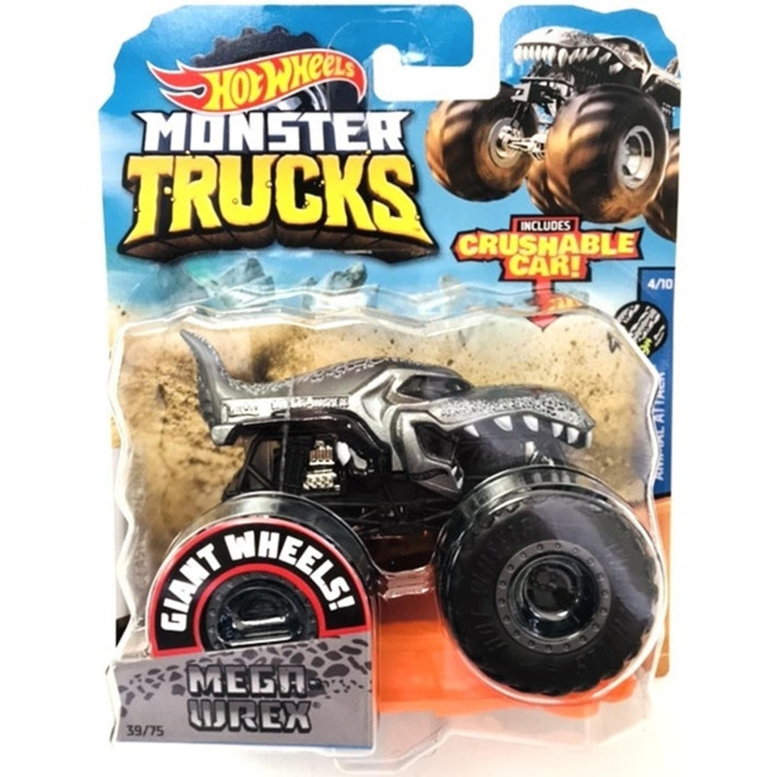 Hot Wheels - 1:64 - Mega Wrex - Monster Trucks - GJF20