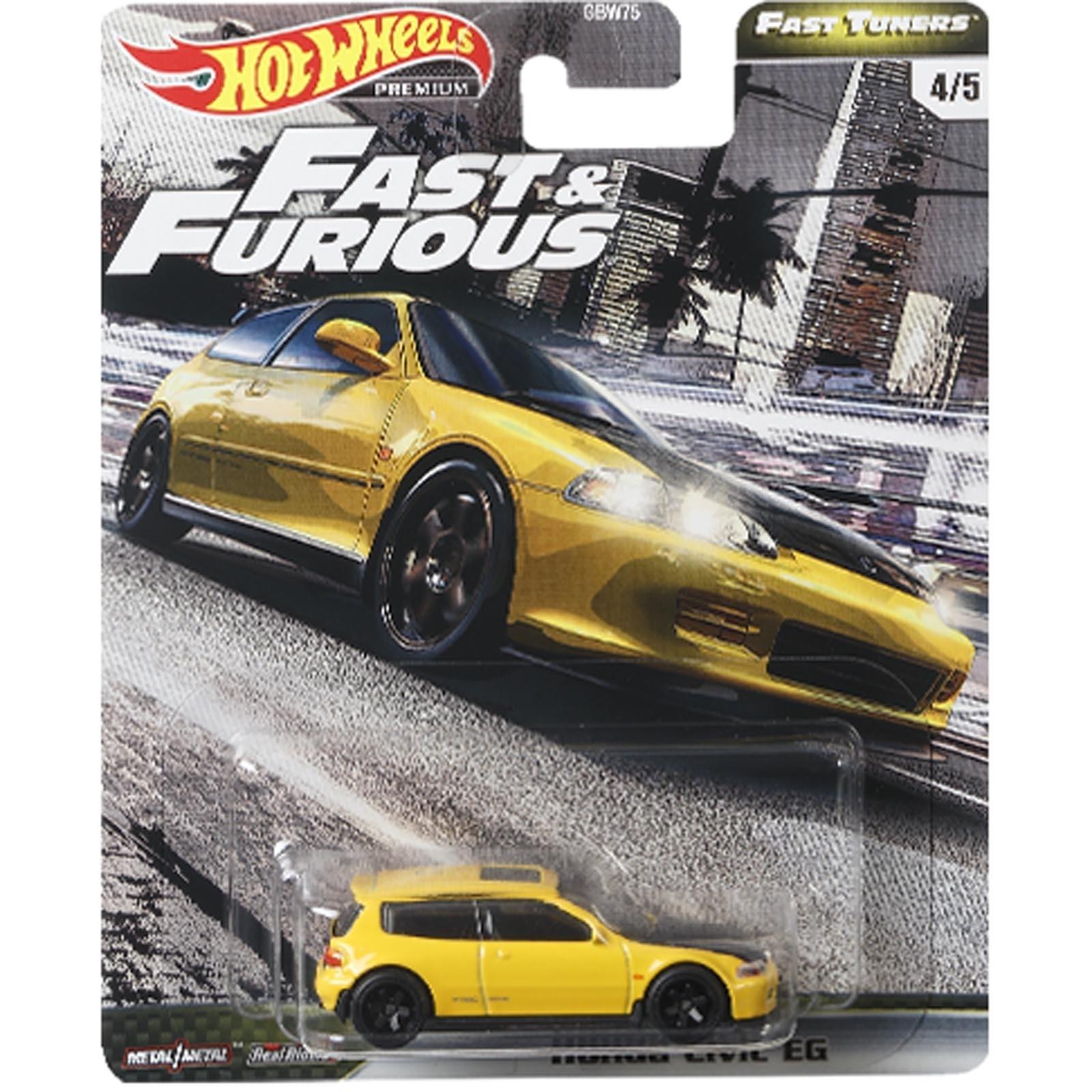 Hot Wheels - Set de 5 Miniaturas - Velozes e Furiosos - Lote F - GBW75