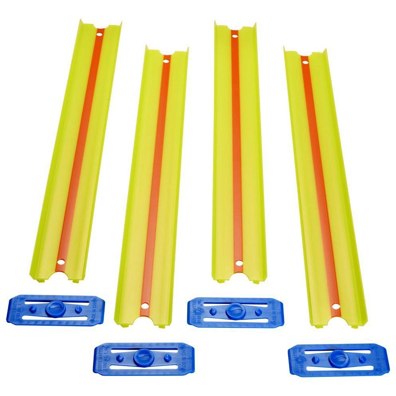 Pista Hot Wheels - 4 Seções Retas Amarela - 90cm - Track & Builder - GLD50