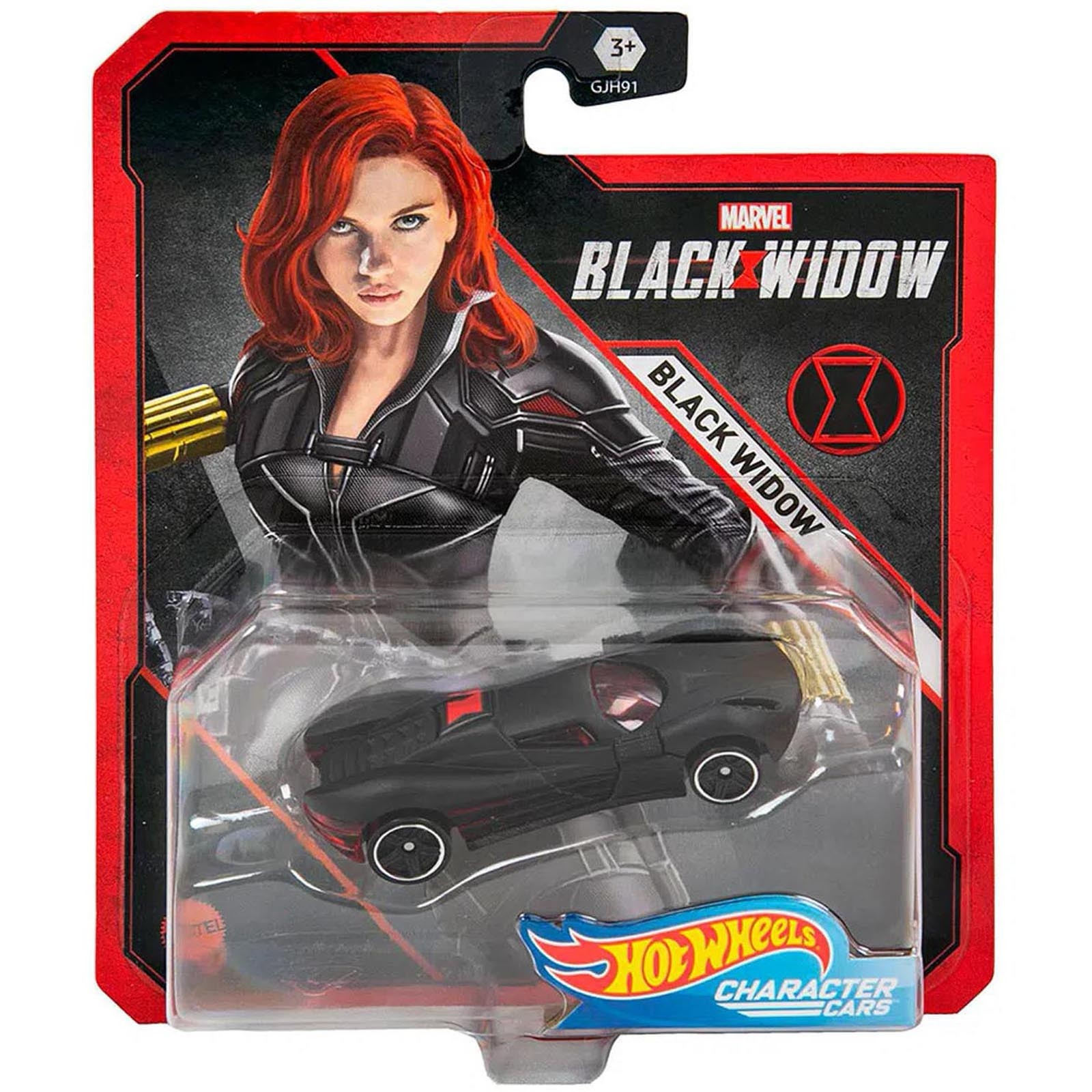 Hot Wheels - Viúva Negra - Marvel - Character Cars - GMH98